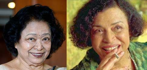 Shakuntala Devi and  Gloria Foster