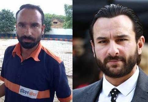 Saif Ali Khan and Gas Station attendant