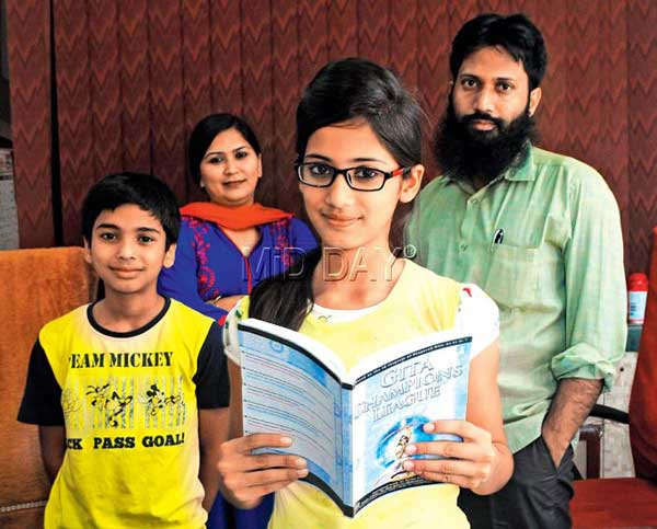 12 year old Maryam Siddiqui has won against 4000 competitors to win the Bhagavad Gita Champion League