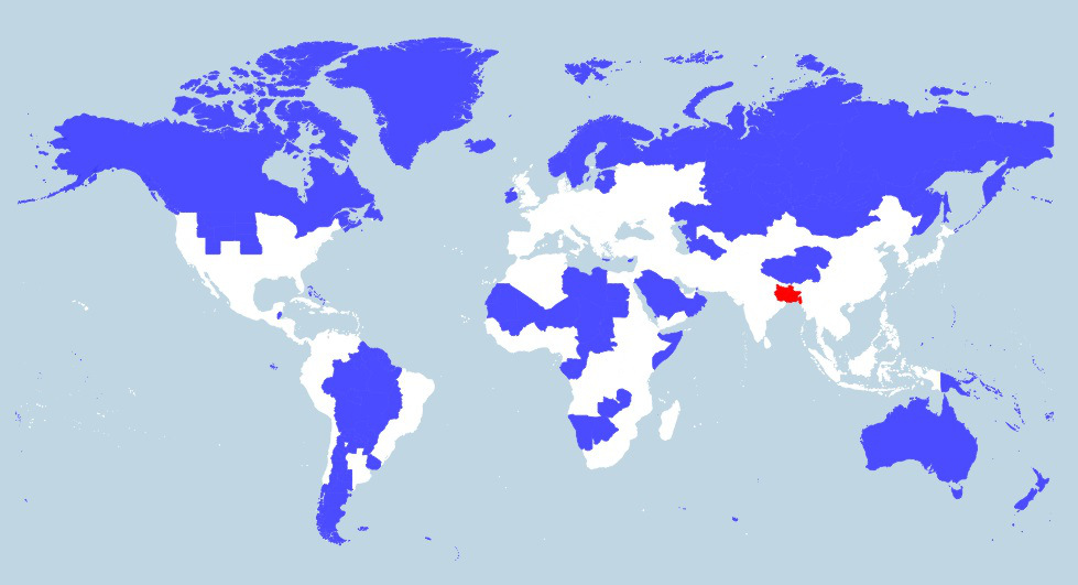 The red the blue regions in this world map share equal population 5 only 5 of the world population lives in the blue region another 5 lives in the red region gumiabroncs Images
