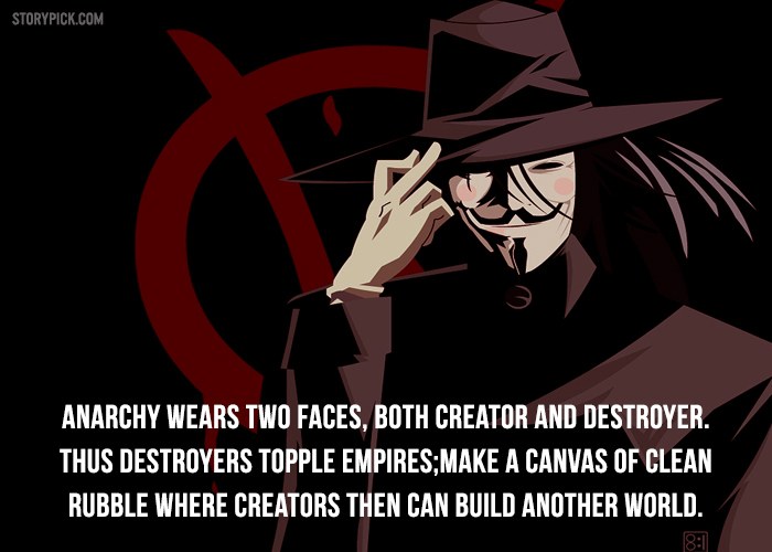 11 Mind Blowing Quotes From V For Vendetta To Trigger Your ...