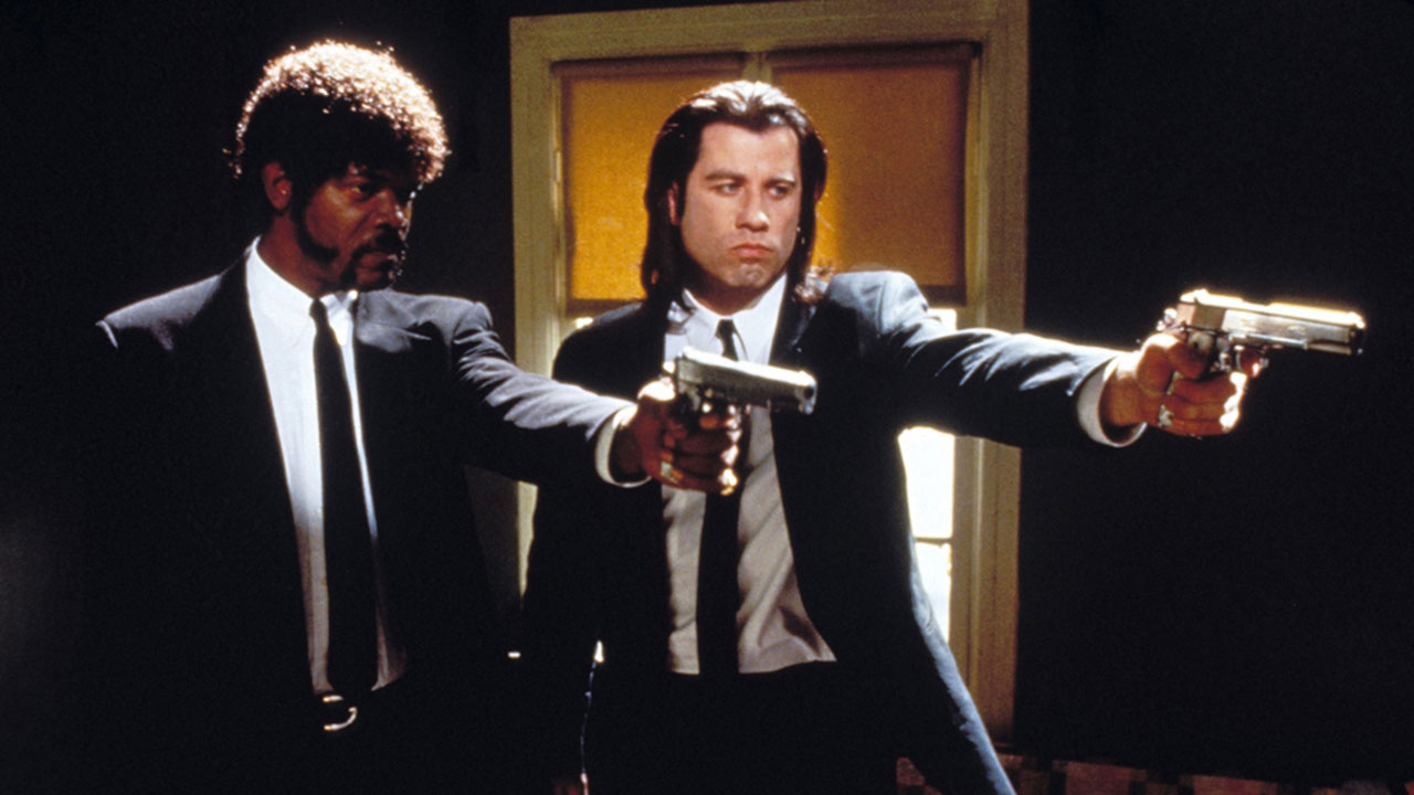 Pulp Fiction - Quentin Tarantino wrote this masterpiece in 1994 where the lives of two mob hitmen, a boxer, a gangster and his wife get connects into four tales of violence.