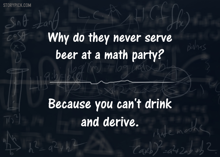 13 One-Liner Jokes That All The Math Lovers Will Totally
