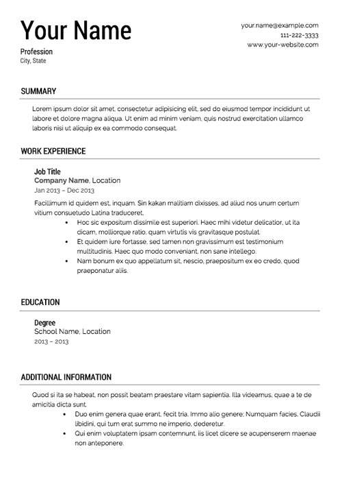 Submitting A Resume That Looks Like A Template  What Does A Resume Look Like For A Job