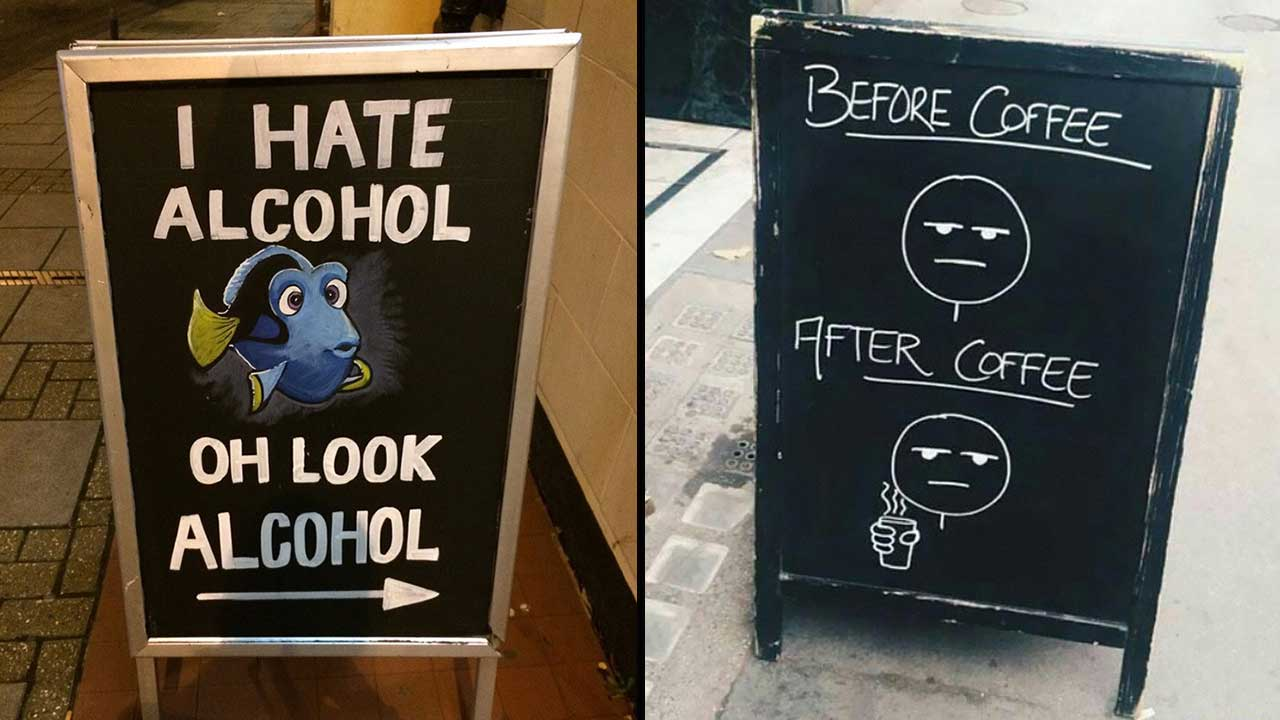 37 Amazing Chalkboard Signs Outside Restaurants That Are Hilarious AF