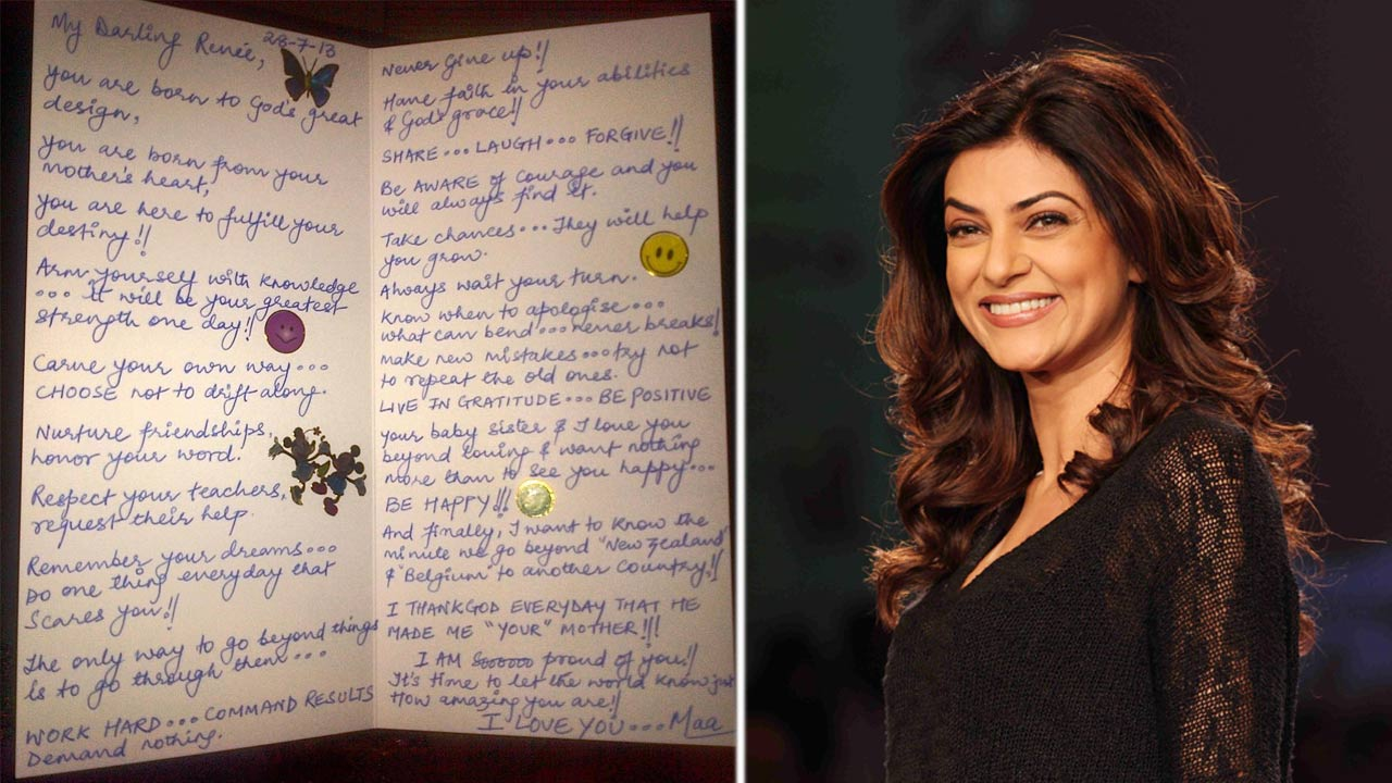 Sushmita Sen Wrote A Heartfelt Letter To Her Daughter And It