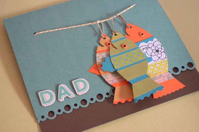 Ребенку как сделать открытку папе на день рождения своими руками