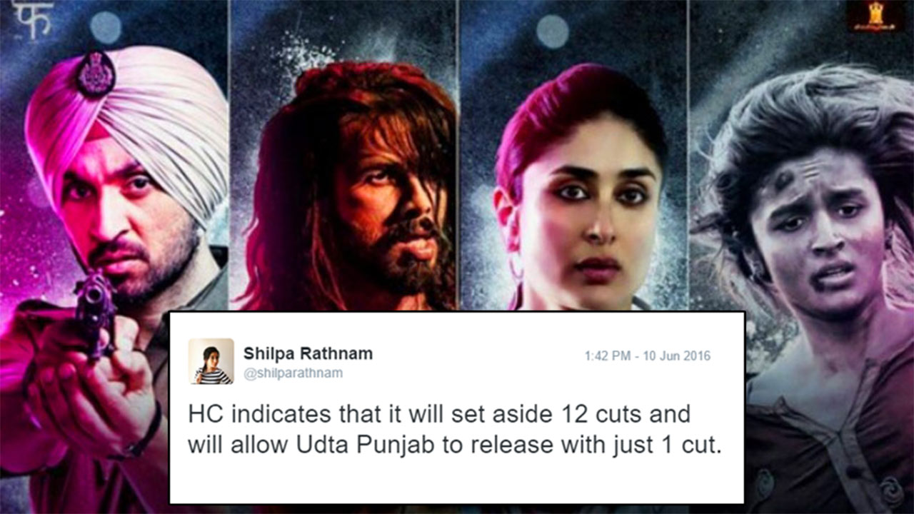 This Journalist Live-Tweeted The Court Ruling For Udta Punjab And It Was Savage