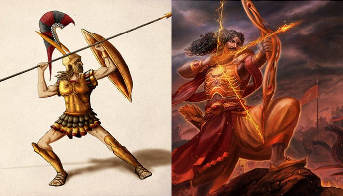 the similarities between greek and indian