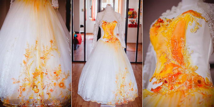 Dyed wedding gowns are just the prettiest thing for any for Dyeing a wedding dress professionally