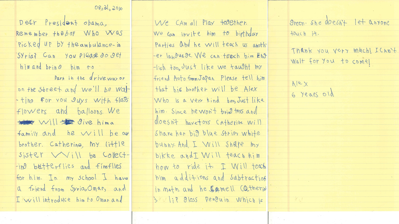 YearOldS Letter To President Obama About A Syrian Kid Shows His