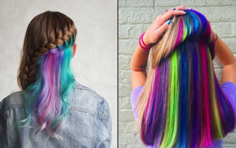 This Hidden Rainbow Hair Trend Is Kicking Up A Storm These Days And I M Not Complaining