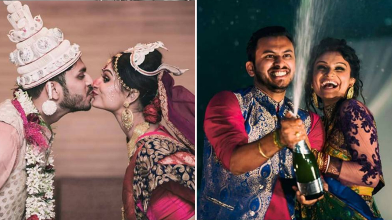 Dimpy Ganguly And Husband Celebrated Their Marriage