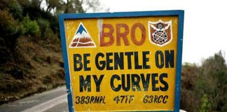 Bhutan BRO Road Signs