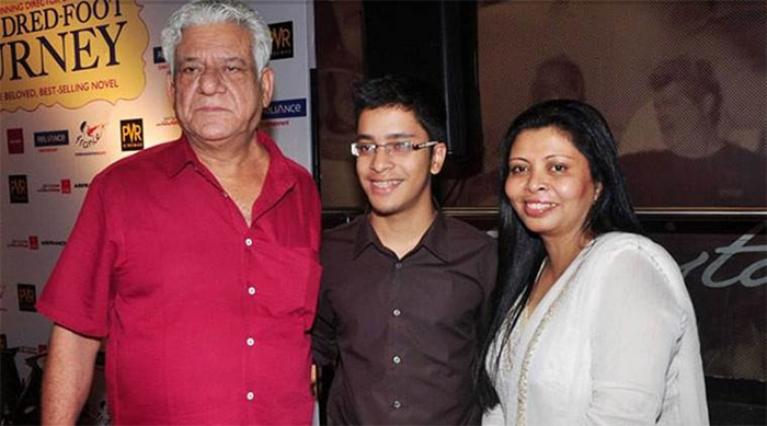 Om Puri and family