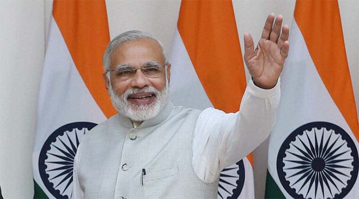 PM Modi honours women sarpanchs working for Swachh Bharat