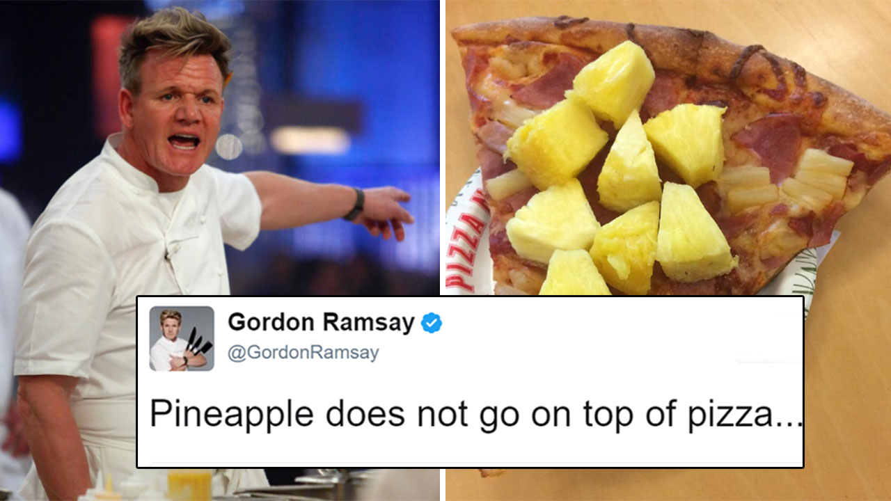 Gordon Ramsay Doesn't Think Pineapple Goes On Pizza And