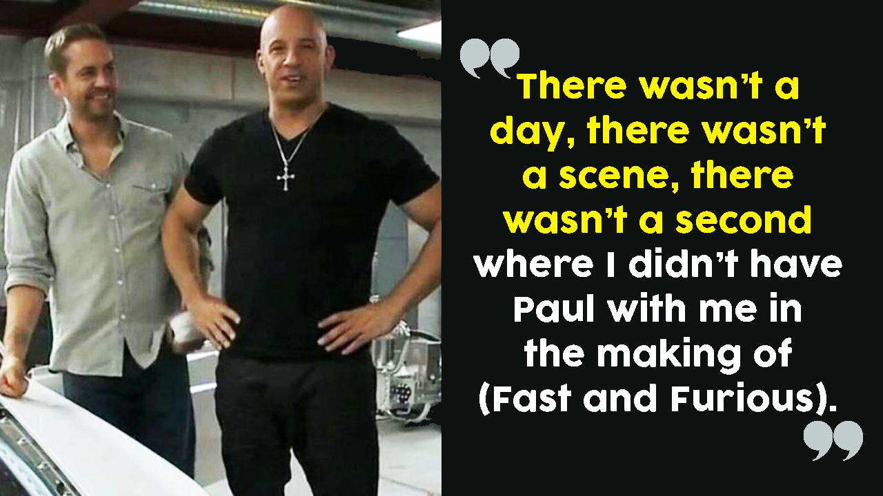 """""""What Is Life Without Paul?"""" Vin Diesel Gets Emotional"""