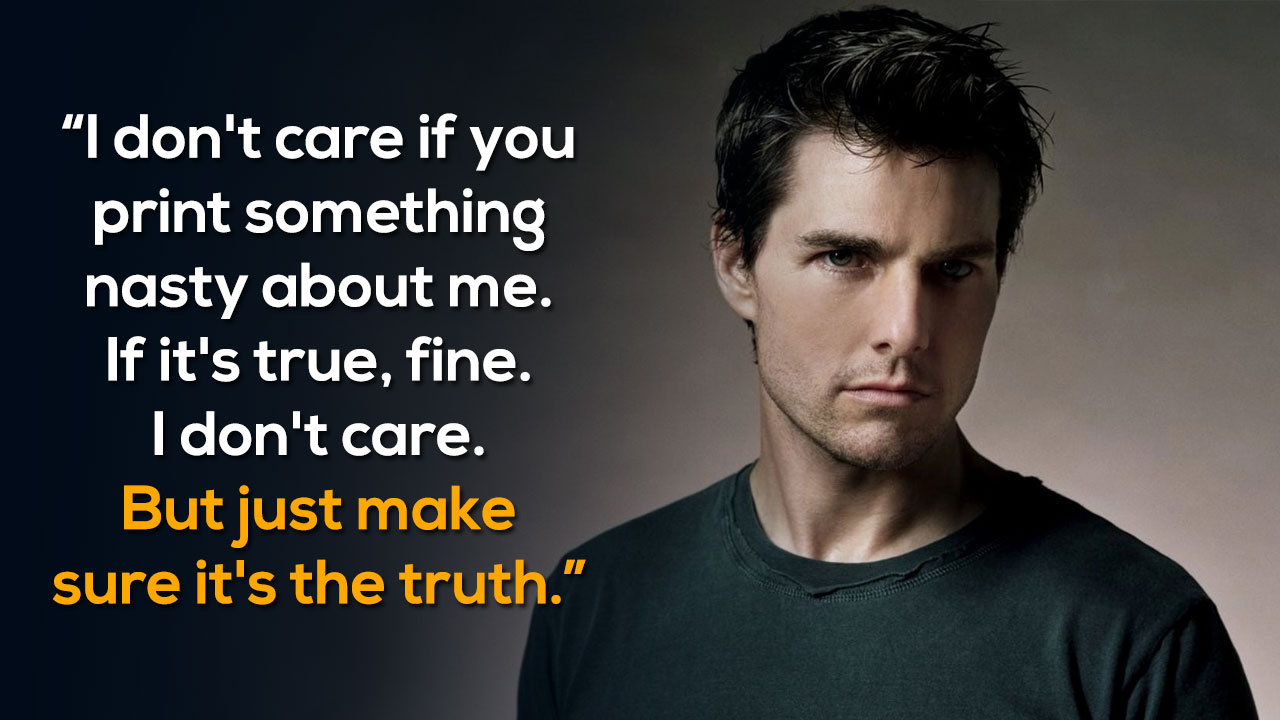 25 Best Cruise Quotes On Pinterest: 12 Times Tom Cruise And His Words Proved That There Is And