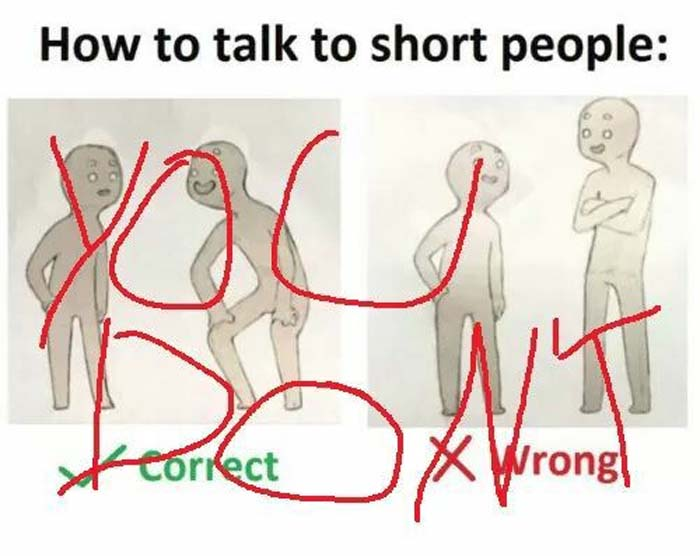 how to talk to short people anime