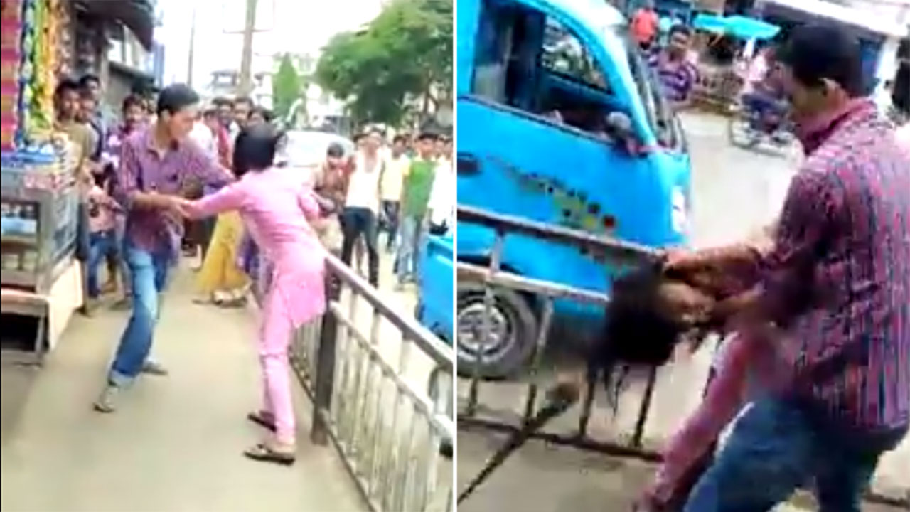 India Does It Again Assam Girl Gets Beaten Up In Public And No One Tries To Stop It-4470