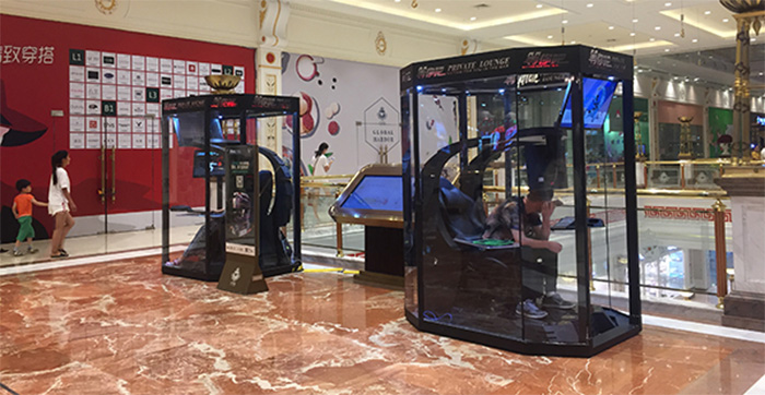 Shopping mall builds gaming booths for bored husbands and boyfriends