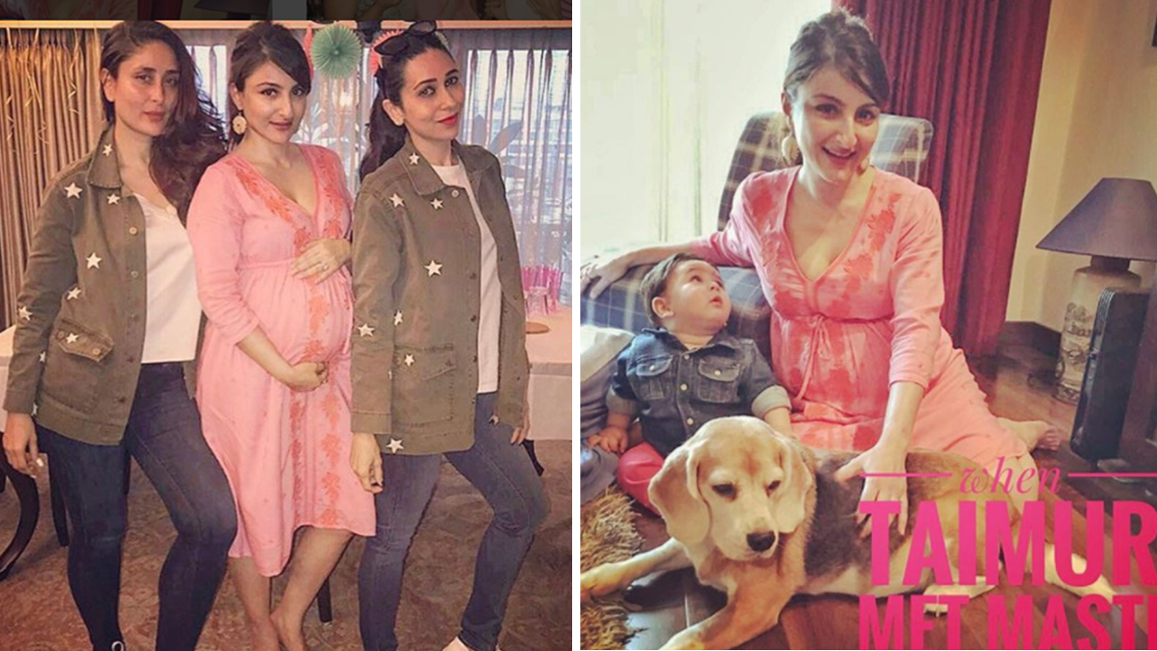 8ab79c915b303 Soha Ali Khan Is Glowing In The Pictures From Her Baby Shower And Taimur Is  Bedazzled Too!