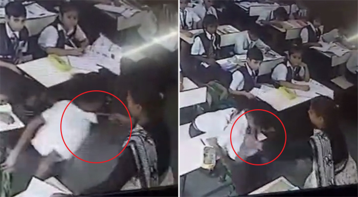 Shocking Video! 'Monster' UP school teacher slaps Class III student mercilessly