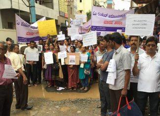 Bengaluru-Silent-Human-chain-portest