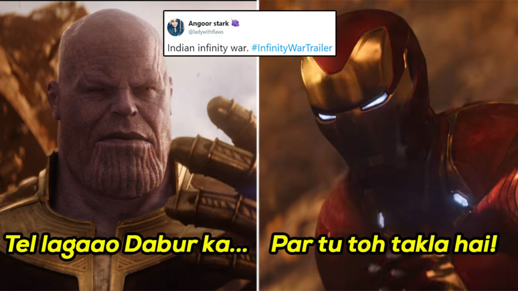 Avengers Infinity War Memes Are Lit Af And The Desi Humour Is