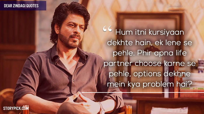 10 Beautiful Quotes From Dear Zindagi That Started The Discussion