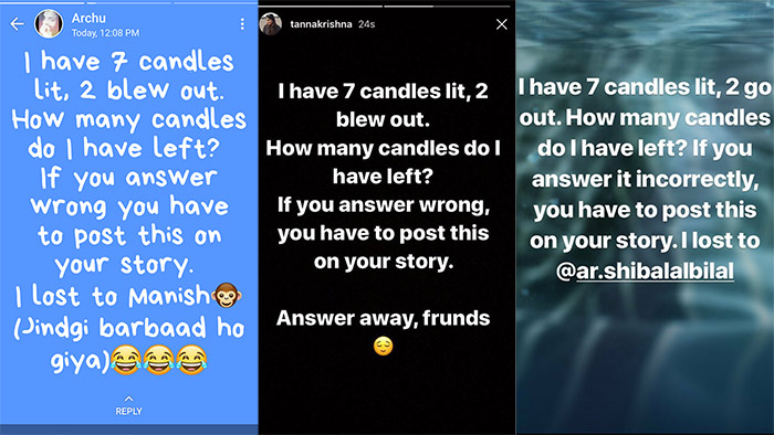 7 Candles Are Lit' Riddle Is Everyone's Insta Story Now And
