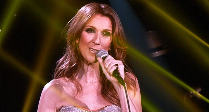 Celine Dion keeps her cool as female fan humps her