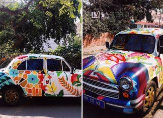 Delhi-Streets-Snazzy-Ambassador