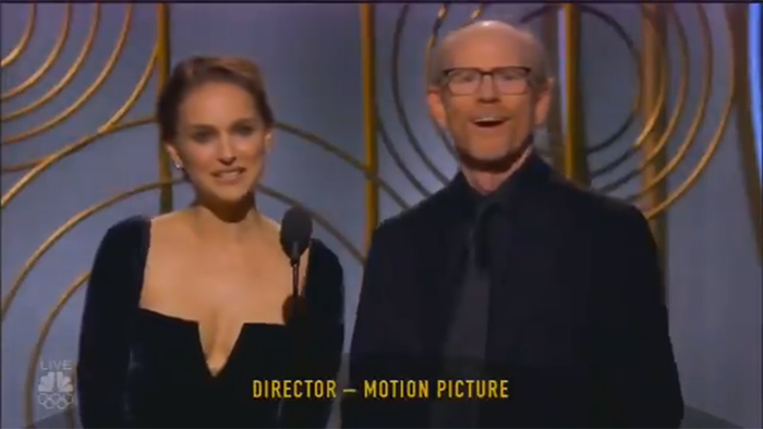 Natalie Portman's flex at the Golden Globes was an all-timer