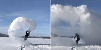 Snow-Cloud-Mpemba-Effect