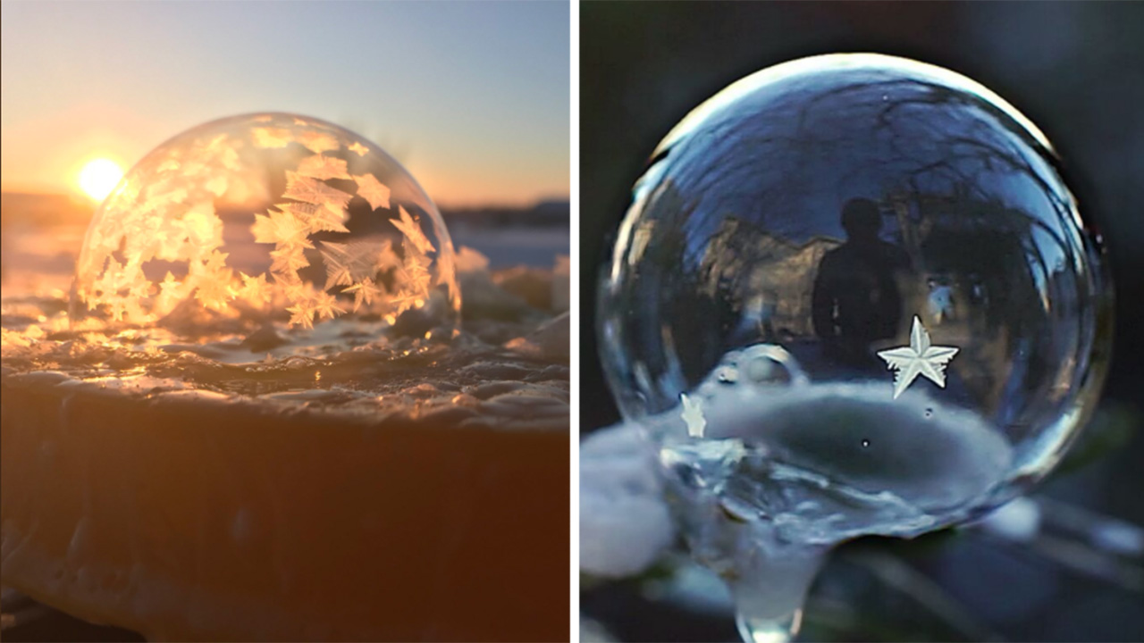 Its So Cold In Canada USA That Bubbles Are Turning Into