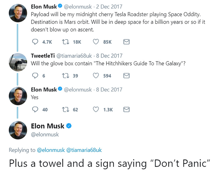 Elon Musk demonstrated Tesla's last photo from space
