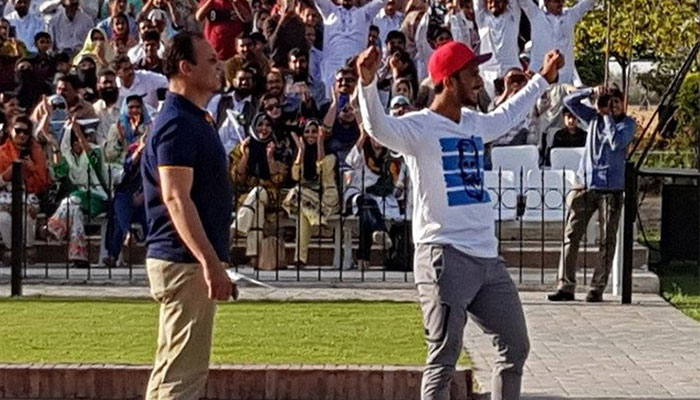 Pakistan cricketer Hasan Ali's 'wicket celebration' at Wagah border causes stir