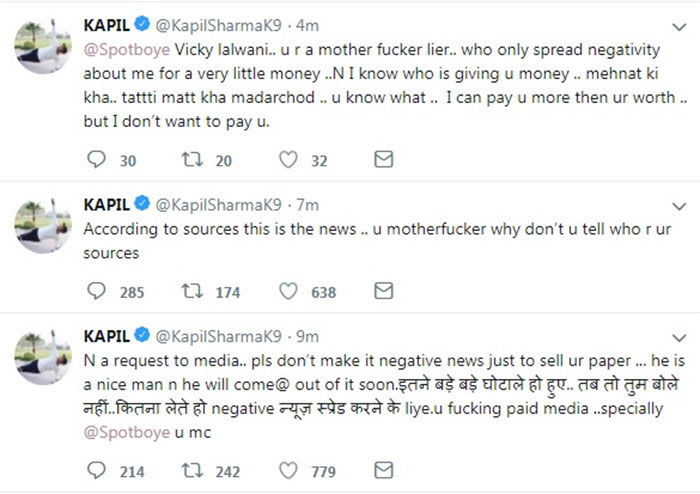 Kapil Sharma Takes A U-Turn! Says Twitter Not Hacked, Files