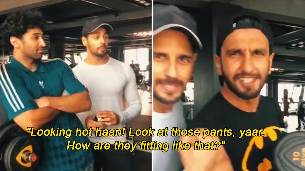 975735c6 Ranveer's 'Sexy Gym Bros' Adi Roy Kapur And Sid Malhotra Can't Get Enough  Of His Ripped Body!