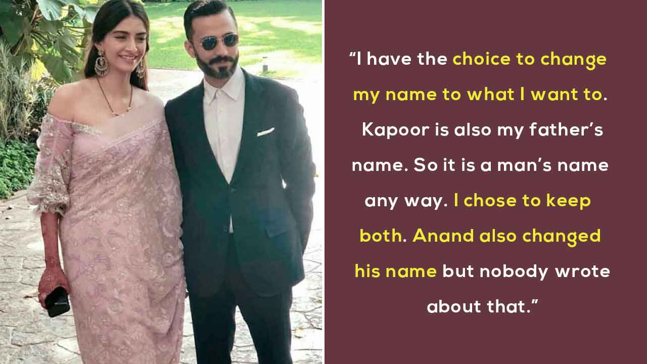 Sonam K Ahuja Shuts Down Those Who Questioned Her Feminism For Taking Up Anand's Surname