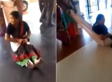 woman dragged