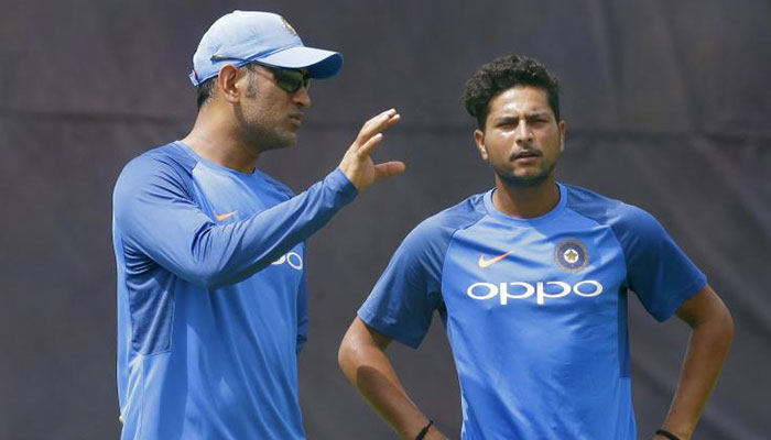When MS Dhoni lost his 'cool' with Kuldeep Yadav
