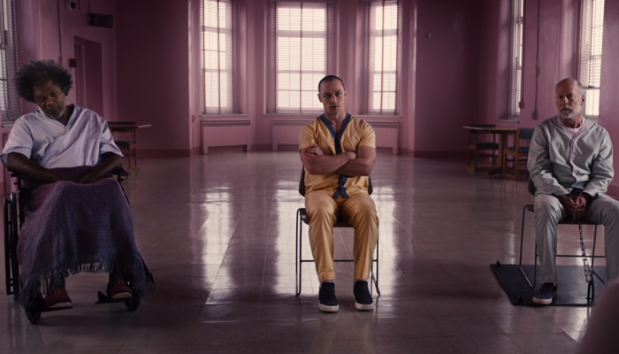 The first trailer for Glass showcases a different superhero movie