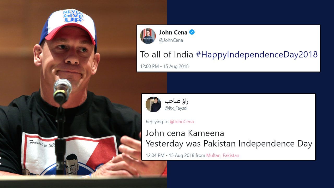 John Cena Wished Indians On Independence Day, And Pakistani Fans