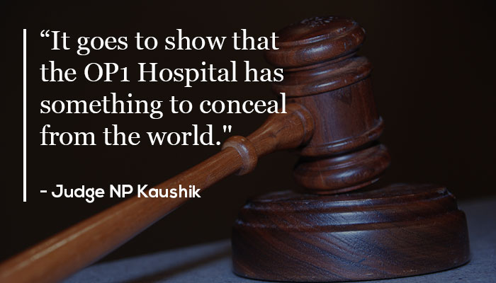 Quote by Judge NP Kaushik