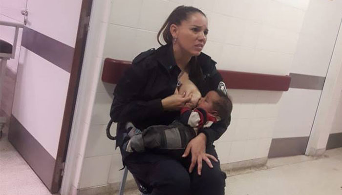 Police officer hailed for breastfeeding 'dirty' baby sent to Argentina hospital
