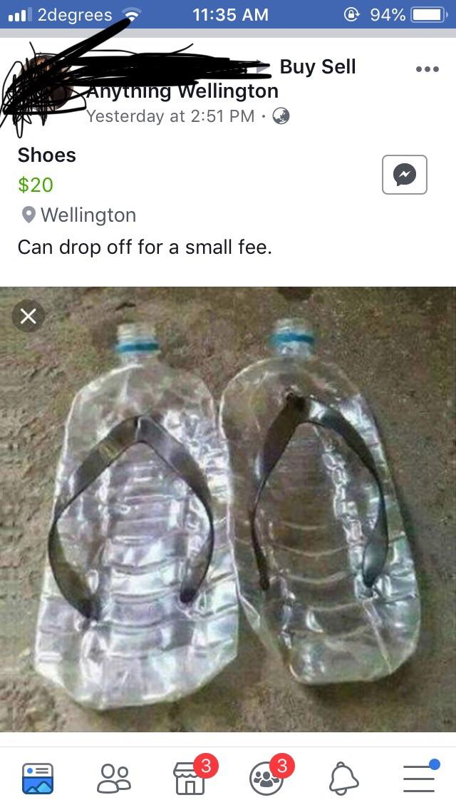 This Woman Is Selling Plastic Water Bottle 'Shoes' For $20
