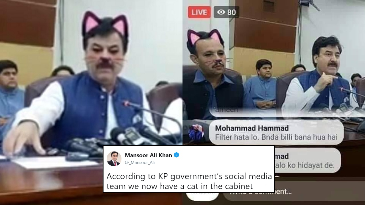 Pakistan Govt's Meeting Was Live Streamed With Cat Filter On & The Result Is Gold!